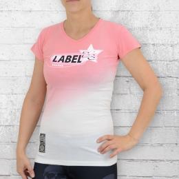Label 23 Damen T-Shirt HMK rosa weiss