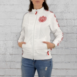 Label 23 Damen Trainingsjacke Label Org weiss