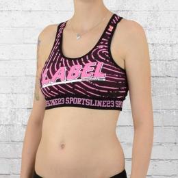 Label 23 Frauen Sport Bra Sportsline schwarz pink