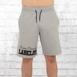 Label 23 Herren Jogging Short Boxcon hellgrau melange