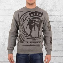Label 23 Herren Sweatshirt Fight Company grau melange