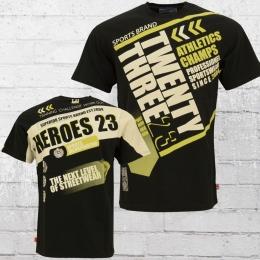 Label 23 Herren T-Shirt Heroes schwarz