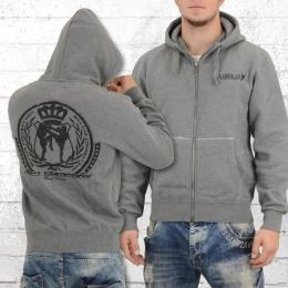 Label 23 Männer Kapuzenjacke Herren BCTA Zip Hoodie grau