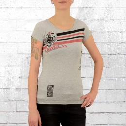 Label 23 Retro Damen T-Shirt grau melange