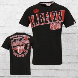 Label 23 T-Shirt Herren World of Fighting schwarz