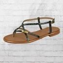 Les Tropeziennes Frauen Sandale Monaco grün schwarz