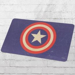 Logoshirt 4 Stück Frühstücksbrettchen Marvel Comics Captain America Shield blau