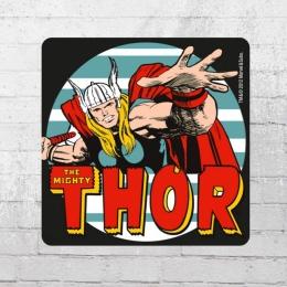 Logoshirt 6er Set Untersetzer Coaster Marvel The Mighty Thor bunt