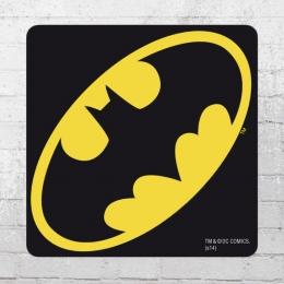 Logoshirt Coaster Batman Logo Untersetzer schwarz gelb