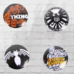 Logoshirt Comic Anstecker 4er Set Marvel Mix 2 Button