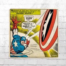 Logoshirt Comic Untersetzer Set 6x Marvel Captain America Smash Modok