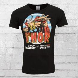 Logoshirt Männer T-Shirt Marvel The Mighty Thor schwarz