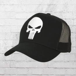 Logoshirt Mesh Trucker Cap Marvel Punisher Logo gestickt schwarz