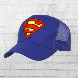 Logoshirt Mesh Trucker Cap Superman Logo gestickt royal blau