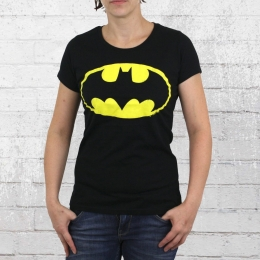 Logoshirt T-Shirt Frauen Batman Logo schwarz