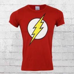 Logoshirt T-Shirt Herren DC Flash Logo rot