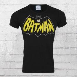 Logoshirt T-Shirt Männer Batman Bat Logo schwarz gelb