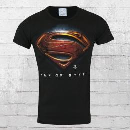 Logoshirt T-Shirt Männer Superman Man Of Steel schwarz