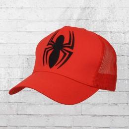 Logoshirt Trucker Cap Spiderman Logo gestickt rot