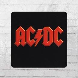 Logoshirt Untersetzer Coaster AC/DC Logo schwarz rot