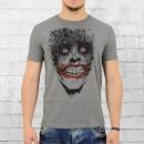 Lolly and Rock Herren T-Shirt Batman Joker grau meliert