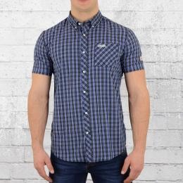 Lonsdale London Button Down Hemd Brixworth blau weiss schwarz