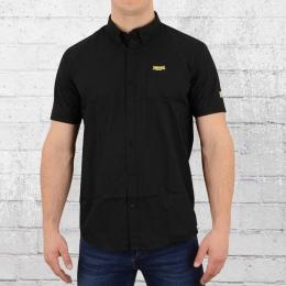 Lonsdale London Button Down Hemd Plain Shirt schwarz