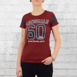 Lonsdale London Damen T-Shirt Shardlow rot melange