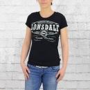 Lonsdale London Frauen T-Shirt Saint Annes schwarz