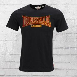 Lonsdale London T-Shirt Herren Classic schwarz