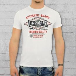Lonsdale London Männer T-Shirt Swanley weiss