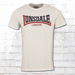 Lonsdale London Männer T Shirt Two Tone weiss