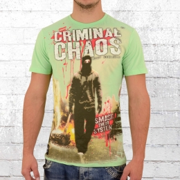 Mafia and Crime Männer T-Shirt Chaos mint grün