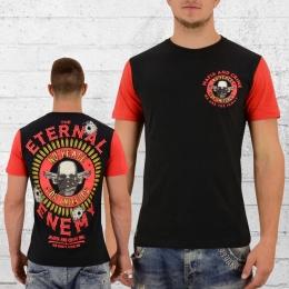 Mafia and Crime Männer T-Shirt Eternal Enemy schwarz rot