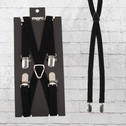 Merc London Hosenträger Drace Slim mit 4 Clips schwarz