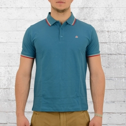 Merc London Männer Polo Shirt Card vintage blau