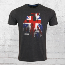 Merc London T-Shirt Herren Oliver dunkelgrau meliert