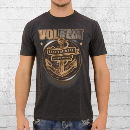 Merchcode T-Shirt Herren Bandshirt Volbeat Seal The Deal grau