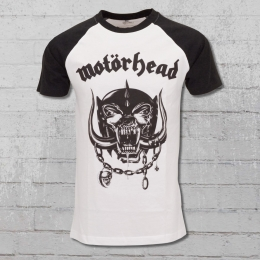 Merchcode Motörhead Raglan Bandshirt Herren Everything Louder weiss schwarz