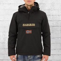Napapijri Herren Windbreaker gefüttert Rainforest Winter Jacke schwarz