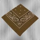 Bandana Paisley Tuch Nickituch brown