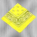 Bandana Paisley Tuch Nickituch light yellow
