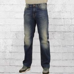 Pelle Pelle Herren Jeanshose Baxter dunkelblau gewaschen