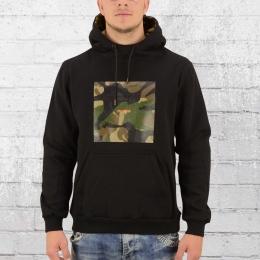 Pelle Pelle Herren Kapuzensweater Box Camo Hoody schwarz