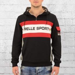 Pelle Pelle Herren Kapuzensweater Bucktown Hoody schwarz rot weiss