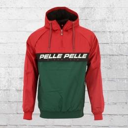 Pelle Pelle Herren Windbreaker Colorblock rot grün