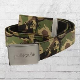 Pelle Pelle Unisex Stoff-Gürtel Core Army Belt camouflage