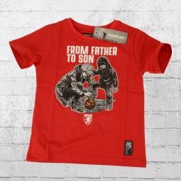 PG Wear Kinder T-Shirt Vom Vater Zum Sohn rot