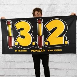PG Wear Strand Handtuch 1312 schwarz gelb