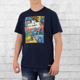 PG Wear T-Shirt Herren All Cops Are Bastards blau
